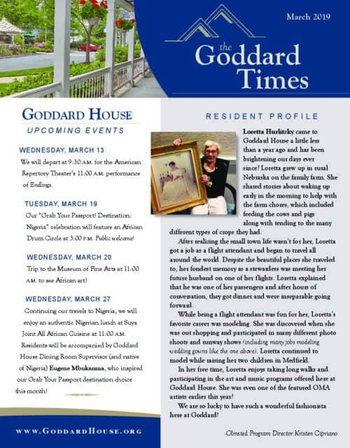 Newsletters – Goddard House Assisted Living