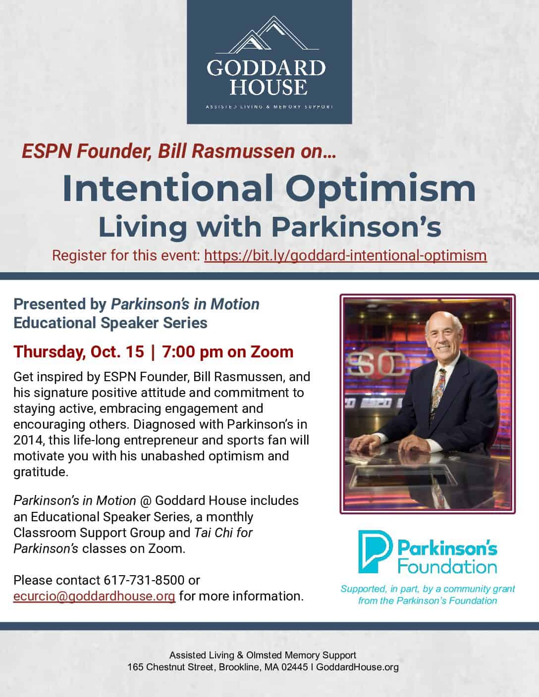 Intentional Optimism: Living with Parkinson's