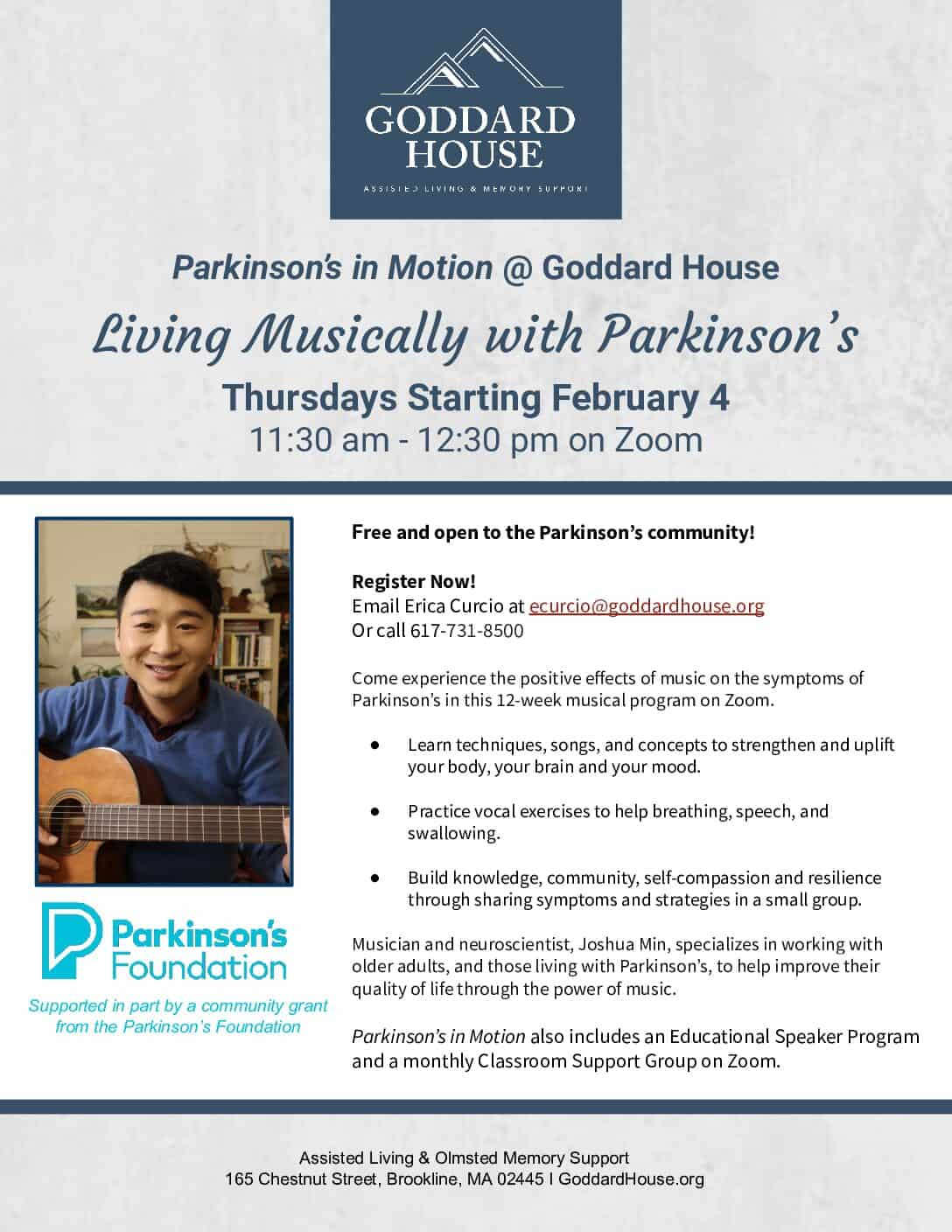 Living Musically with Parkinson's
